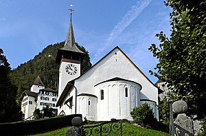 Wimmis - Wimmis church and castle