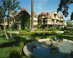 La Winchester House, vista sudest