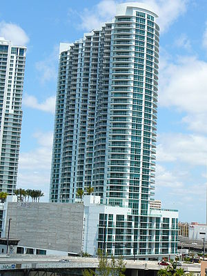 Wind (Miami) - The Wind Tower in May 2008, from the southeast
