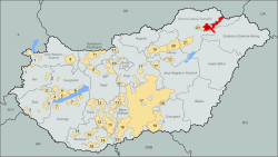 Wine regions Hungary Tokaj-hegyalja.svg