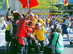 Trinidad and Tobago national football team - Soca Warriors' supporters before the team's opening 2006 FIFA World Cup match against Sweden
