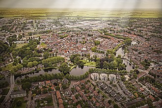 Woerden - Aerial view of Woerden in 2013