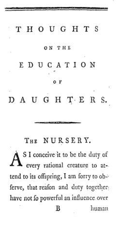 Image illustrative de l'article Thoughts on the Education of Daughters