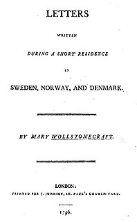<i>Letters Written in Sweden, Norway, and Denmark</i> book by Mary Wollstonecraft