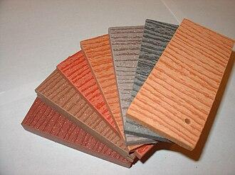 Wood-plastic composite - Image: Wood plastic composite 2