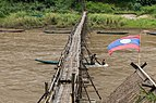Working at the consolidation of a wooden footbridge in Luang Prabang - 2 (Front view).jpg