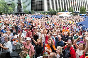 Oktoberfest Zinzinnati - More than 30,000 participated in the World's Largest Chicken Dance in 2015, led by former Bengals quarterback Ken Anderson