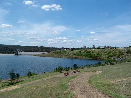 Wyaralong Dam was opened in 2011 Wyaralong Dam 2.JPG