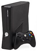 Up: Xbox 360 Elite, Centre: Xbox 360 S and new-style controller, Down: Xbox 360 E and new-style controller