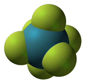 VSEPR theory - Xenon hexafluoride, which has a distorted octahedral geometry.