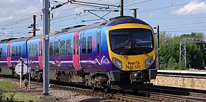 First TransPennine Express class 185 unit 185120 departs York.