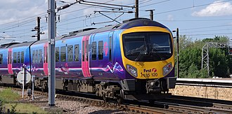 British Rail Class 185 - Class 185 at York in First TransPennine Express Dynamic Lines livery