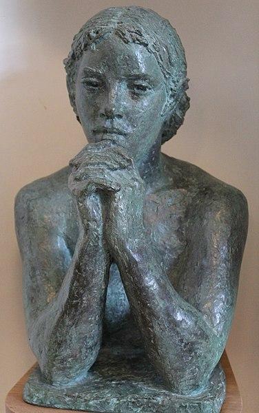File:Young Woman Contemplating by Karin Jonzen.jpg