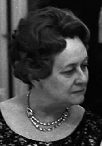 Yvonne de Gaulle en février 1968.