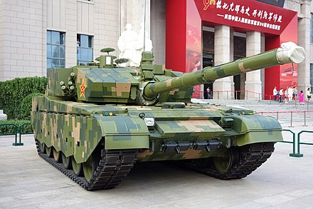 A Type 99A main battle tank in service with the PLAGF ZTZ-99A tank 20170902.jpg