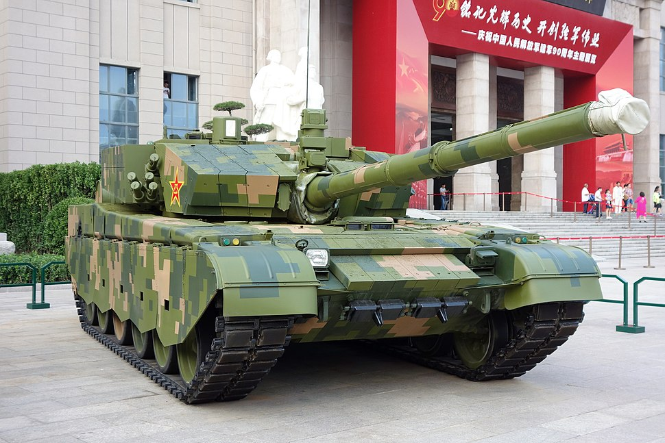 ZTZ-99A tank front right 20170902