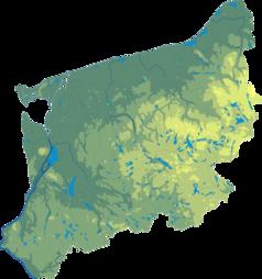 Mapa lokalizacyjna województwa zachodniopomorskiego