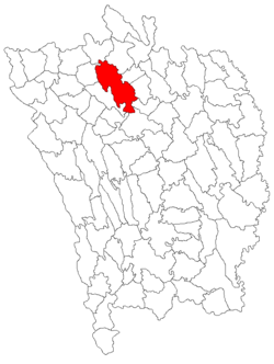Location of Zăpodeni