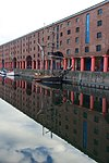Zebu in front of the Albert Dock warehouses.jpg