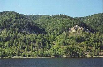 Zhiguli Mountains - View to Zhiguli from the Volga River