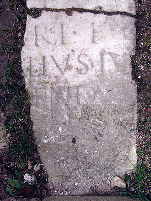 Žiče Charterhouse - Inscribed stone in Žiče