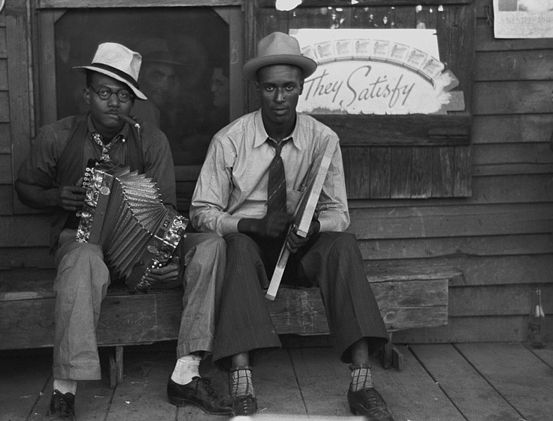File:Zydeco players Louisiana 1938.jpg