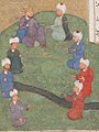 """Alexander and the Circle of Seven Sages"", Folio from a Khamsa (Quintet) of Nizami MET sf13-228-9-f260b-d.jpg"