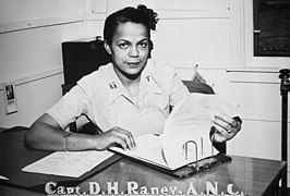"""Capt. Della H. Raney, Army Nurse Corps, who now heads the nursing staff at the station hospital at Camp Beale, CA - NARA - 535942.jpg"