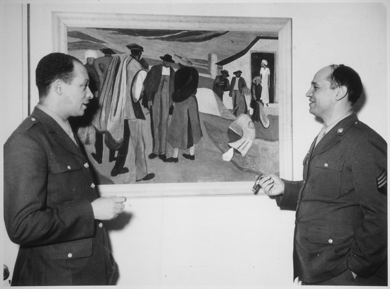 "File:""Sgt. Romare Bearden, noted young Negro artist whose paintings have been exhibited in galleries and museums in several m - NARA - 535841.tif"