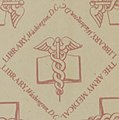 """""""THE ARMY MEDICAL LIBRARY, Washington, D. C."""" endpaper detail from Autobiography of Charles Caldwell, M.D. (1855) (14579667367) (cropped).jpg"""