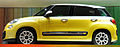 """ 12 - Italian fashion trend cars - Yellow Minivan Fiat 500L facing left side view.jpg"