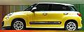""" 12 - Italian fashion trend cars - Yellow Minivan Fiat 500L facing left side view.jpg"