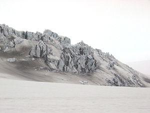 """Mýrdalsjökull - Image: """"ice castle"""" formation on Mýrdalsjökull"""