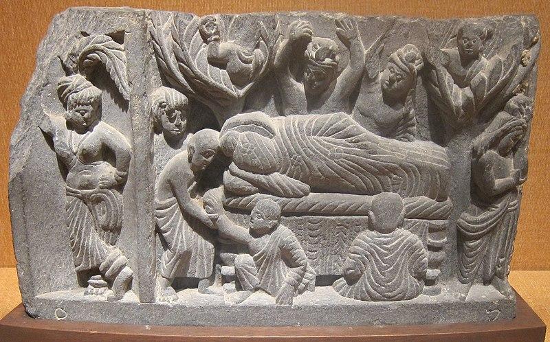 File:'Parinirvana', India, Gandhara, c. 100 CE, stone, Honolulu Academy of Arts.JPG