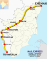(Chennai - Trivandrum) Mail Express route.png
