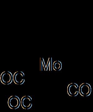 Mesitylene - Image: (Mesitylene)molybden um tricarbonyl