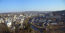 Panoramic view of Buchach in 2012.