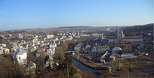Buchach - Panoramic view of Buchach in 2012