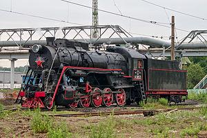 Russian locomotive class L - Locomotive Л-3653 near Moscow