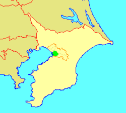 Location of Chūō in Chiba
