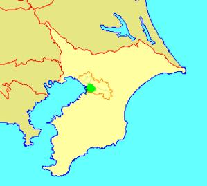 Chūō-ku, Chiba - Image: 地図 千葉県千葉市中央区 2006