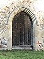 -2020-11-06 Doorway, south facing elevation, St Bartholomew's, Hanworth, Norfolk.JPG