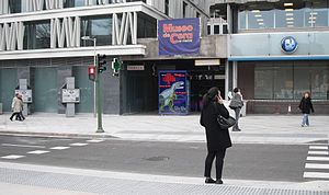 Wax Museum of Madrid - View of the museum from Paseo de Recoletos