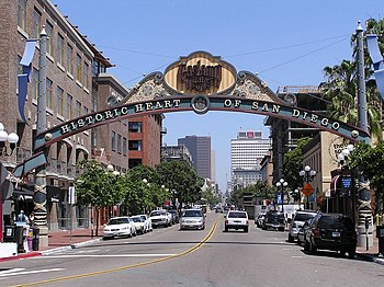 Gaslamp Quarter, Downtown San Diego, Californi...