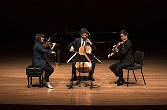 Chamber Music Society of Lincoln Center - (Left to Right) Chamber Music Society artists Yura Lee, Nicholas Canellakis, and Richard O'Neill.