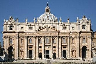 Pope Paul V - Facade of St Peter's Basilica