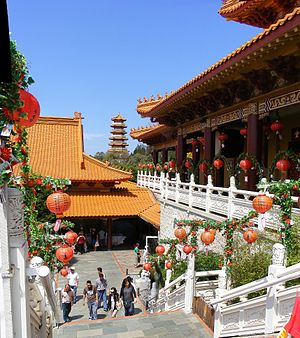 Nan Tien Temple - Tourists visiting the temple complex