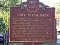 101 0489 fort stephenson state hist'l marker, grounds of birchard public library, fremont ohio.JPG