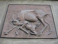 1100 Erlachgasse 11 - Wandrelief Ziege mit Zicklein von Georg Ehrlich 1953 IMG 7394.jpg