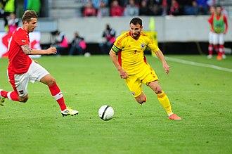 Răzvan Raț - Răzvan Raț during a friendly game against Austria on 5 June 2012.